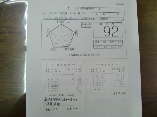 23年産・新米コシヒカリ