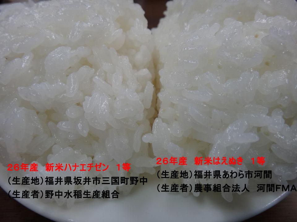 株式会社日食 26年産 新米 ハナエチゼン はえぬき JA花咲ふくい