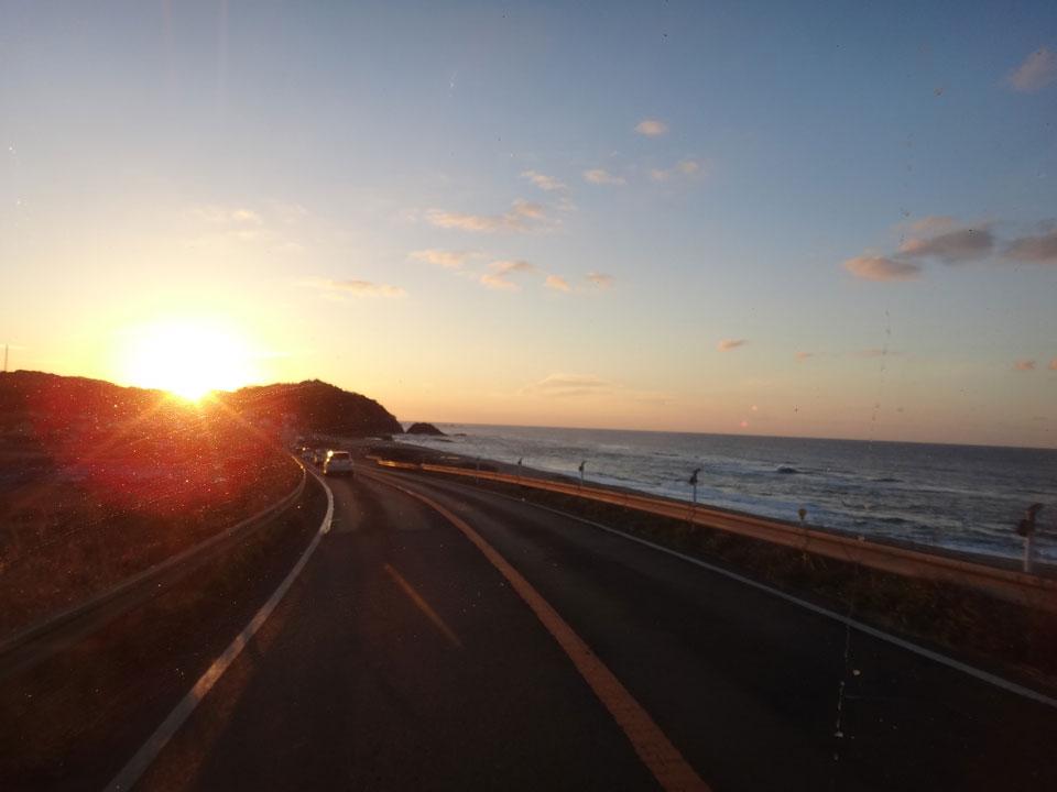 株式会社日食 国道9号線 島根県大田市五十猛町 日本海 夕景
