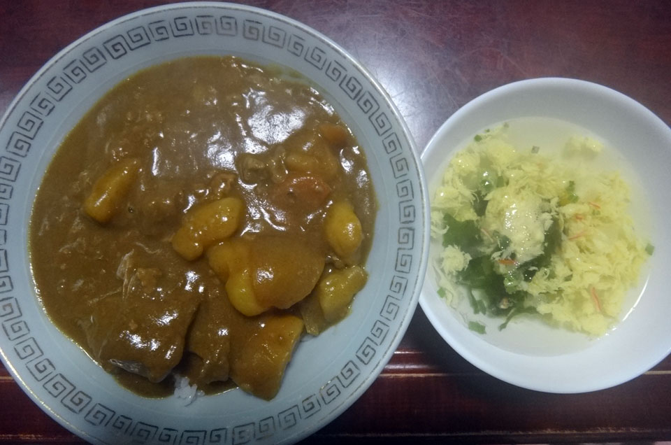 株式会社日食 朝ごはん カレー マルイの玉子スープ