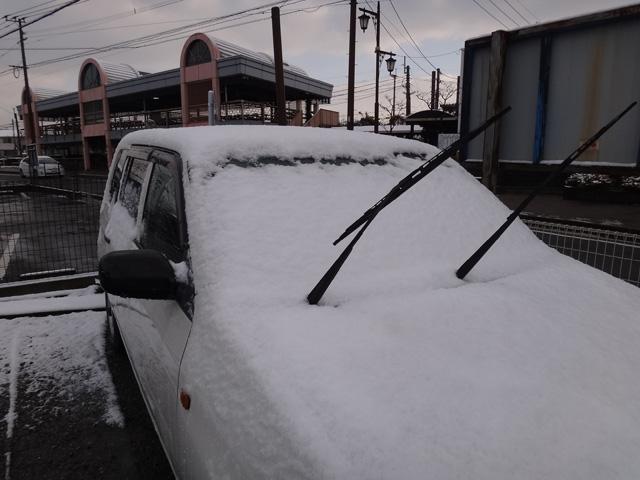 株式会社日食 雪 駐車場 トヨタ プロボックス