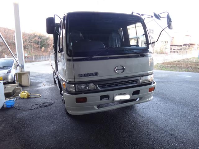 株式会社日食 トラック 洗車 ワックスかけ 日野レンジャー