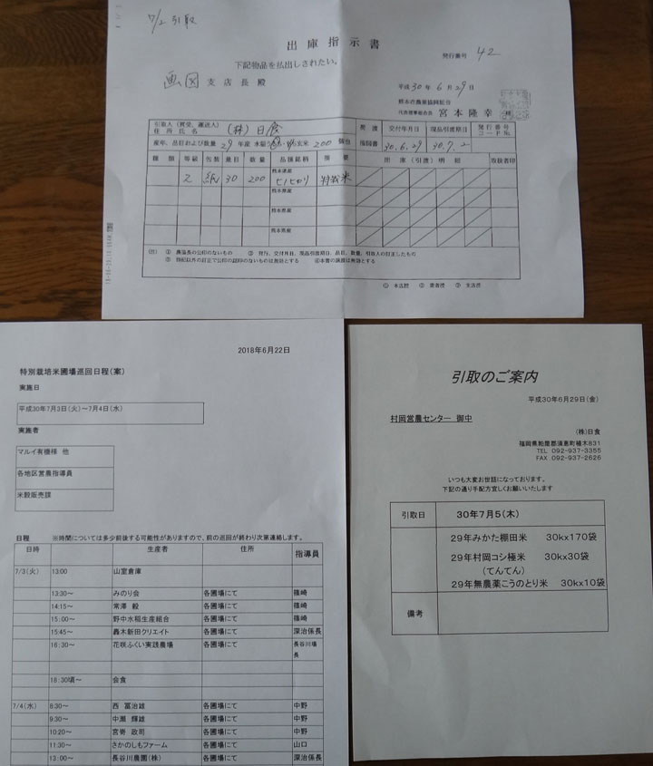 株式会社日食 平成30年7月日程