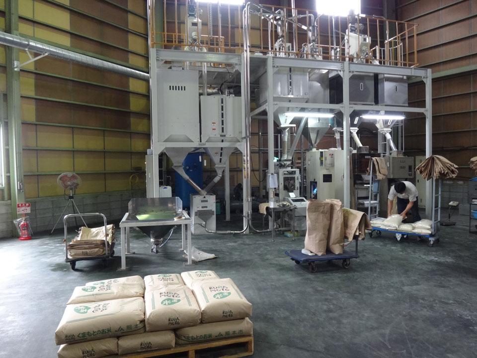 株式会社日食 精米プラント エアック製 吸引式エア搬送装置