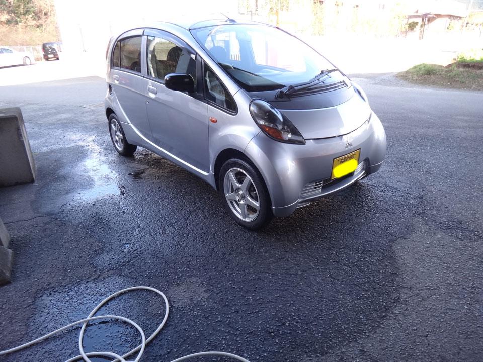 株式会社日食 三菱自動車 アイ 洗車 ガラスコーティング