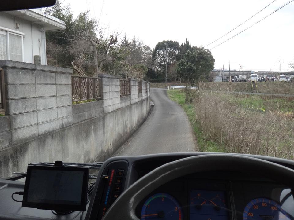 株式会社日食 山口県美祢市 道が狭い