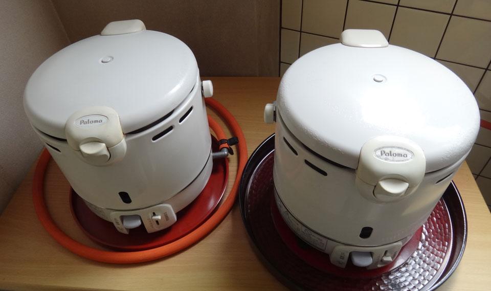 株式会社日食 炊飯 試食 パロマ ガス炊飯器 5.5合炊き PR-100DF 塗装