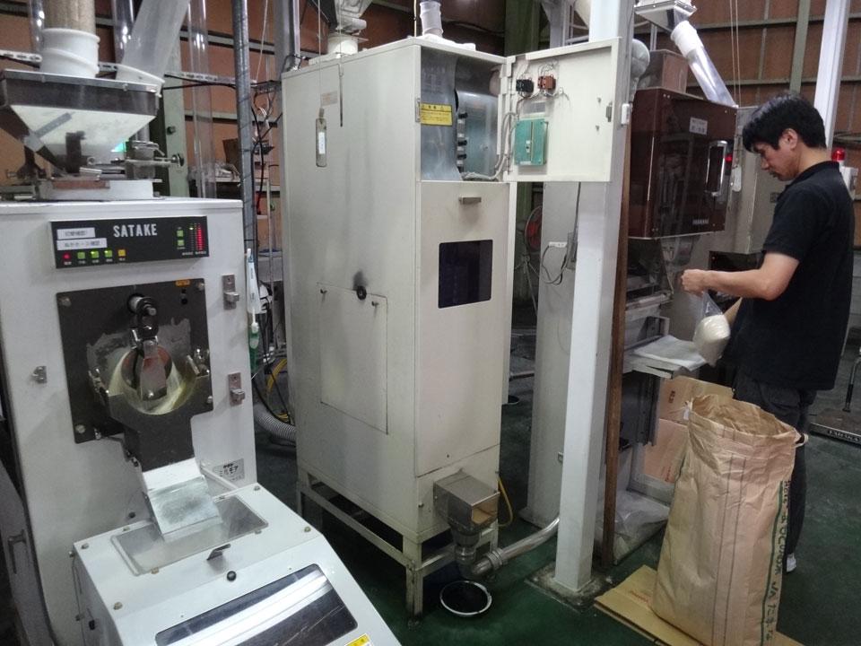 株式会社日食 精米プラント サタケ精米機 ミルモア HPR7B改造 精米チェック 精米データ