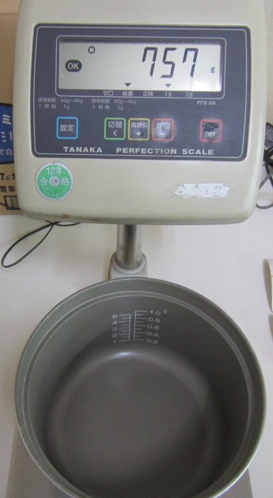 コメショウ 電気秤 炊飯試験
