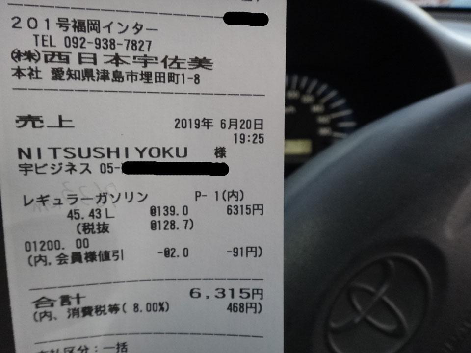 株式会社日食 トヨタ プロボックス 給油 燃費 16.8km/L