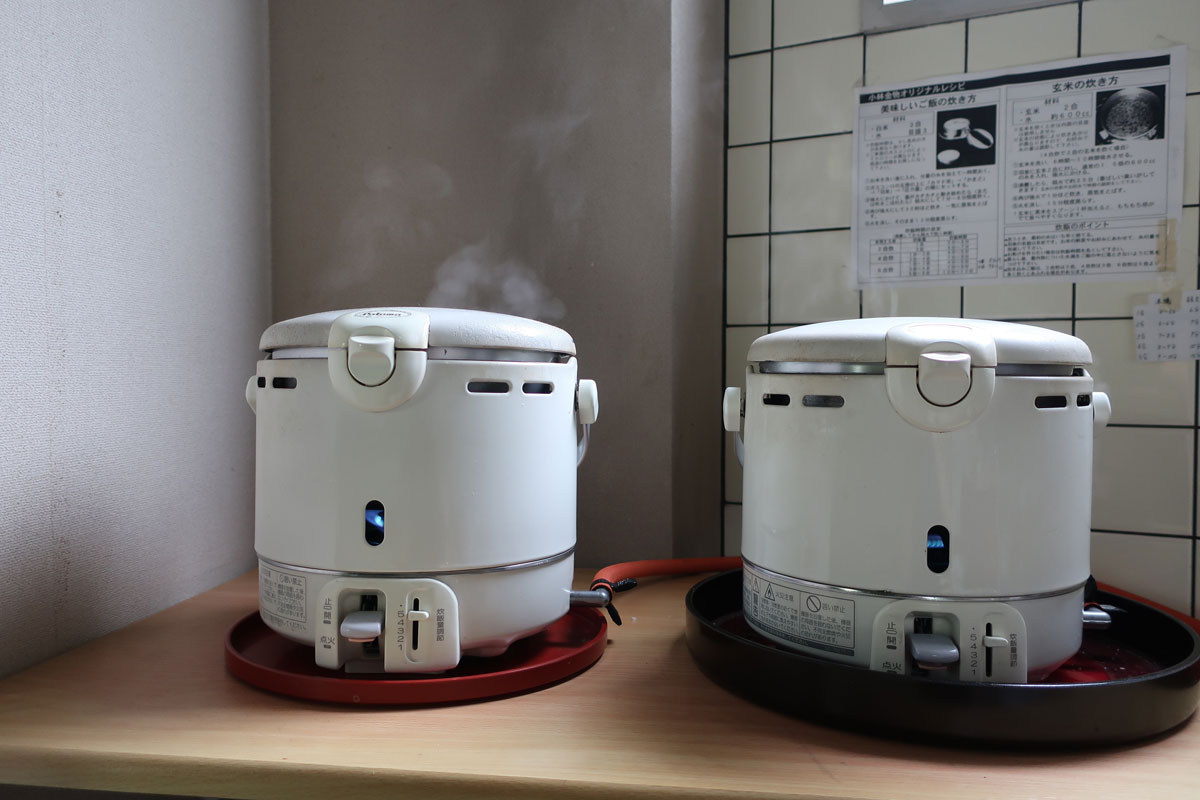 株式会社日食 炊飯 試食 パロマ ガス炊飯器 5.5合炊き PR-100DF