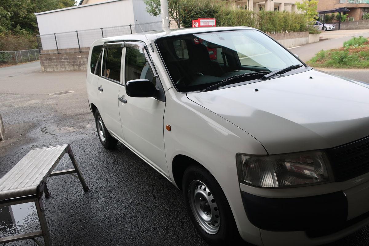 株式会社日食 トヨタ プロボックス 洗車
