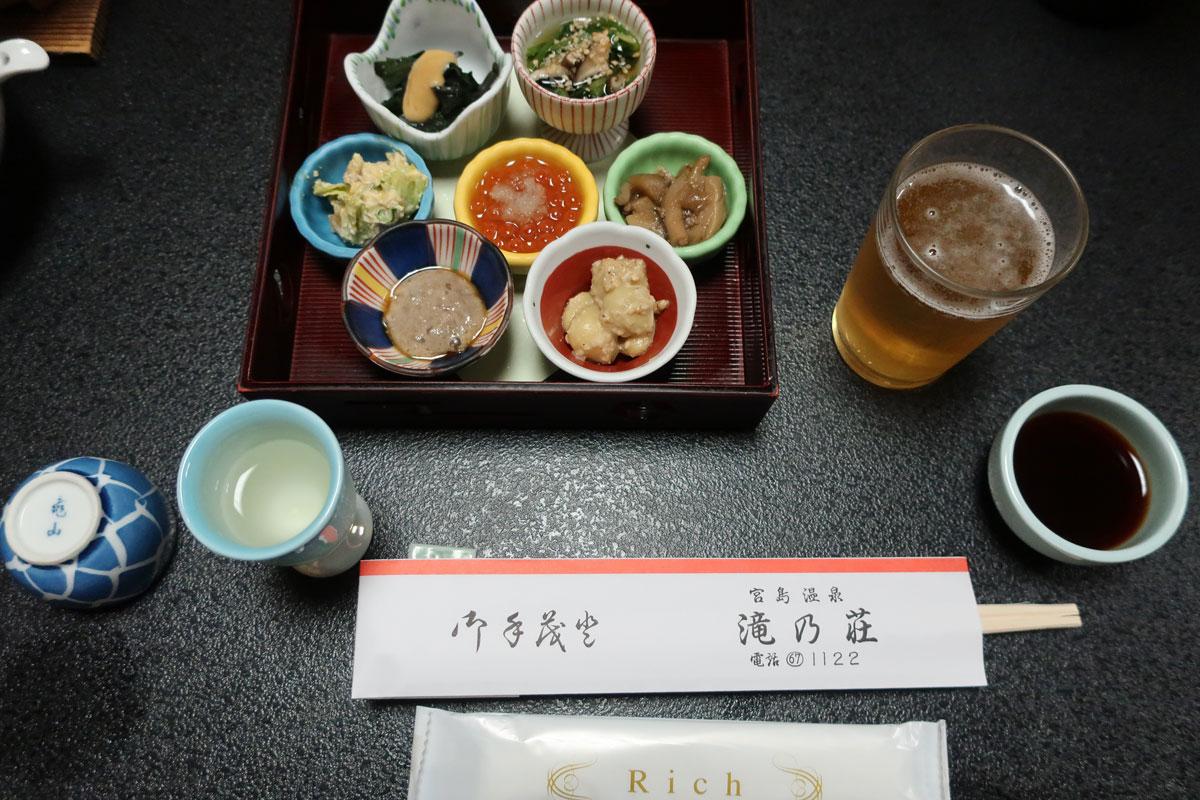 株式会社日食 富山県小矢部市 宮島温泉 滝乃荘 料理 前菜