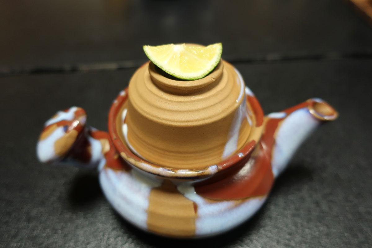 株式会社日食 富山県小矢部市 宮島温泉 滝乃荘 料理 土瓶蒸し