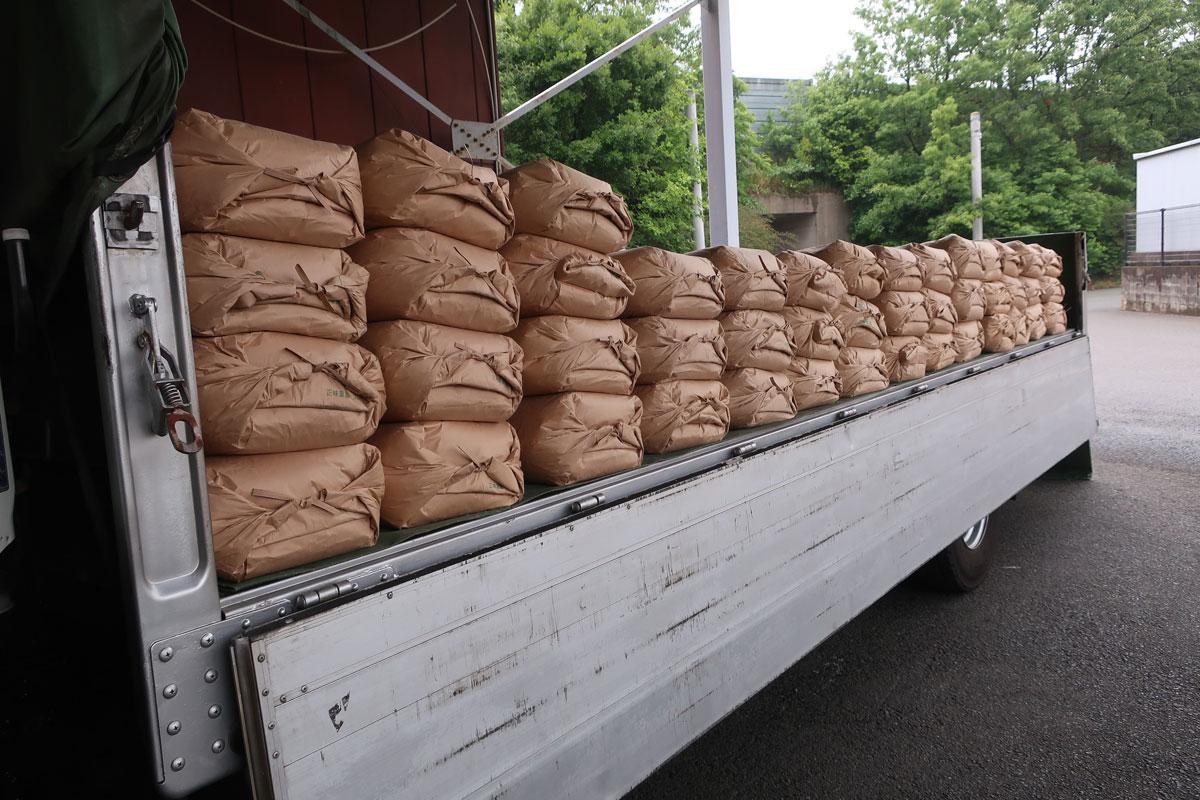 株式会社日食 山口県美祢市 積み込み 山口のお米 令和元年産 コシヒカリ きぬむすめ ぴかまる