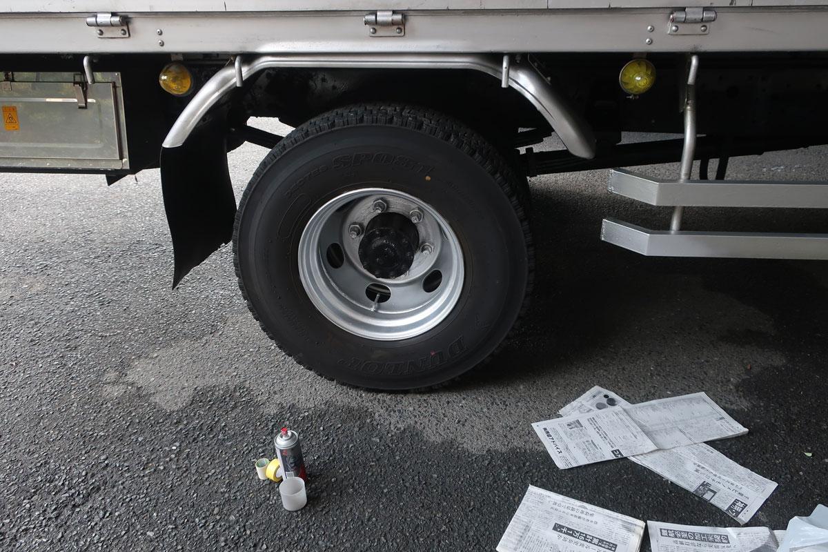 株式会社日食 タイヤローテーション ホイール 塗装