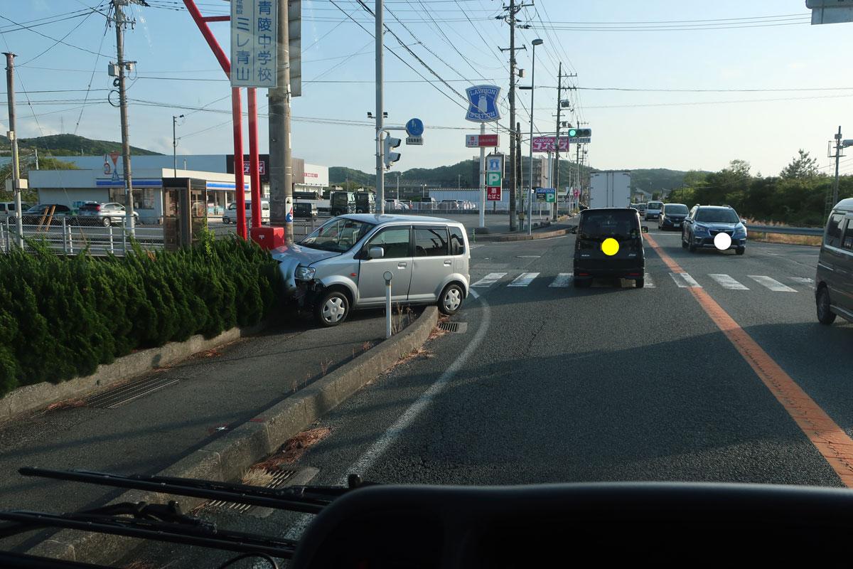 株式会社日食 国道9号線 島根県江津市 事故渋滞