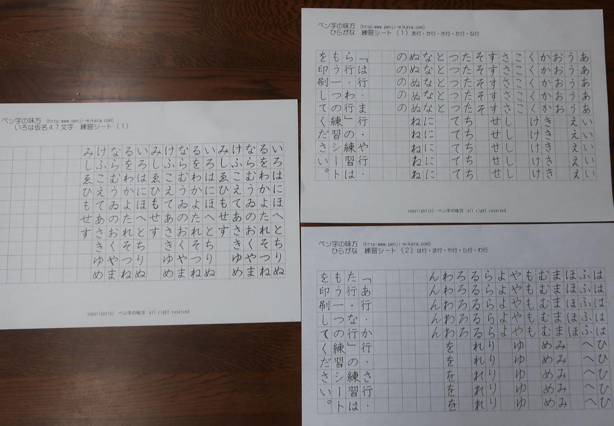 株式会社日食 ペン字の練習